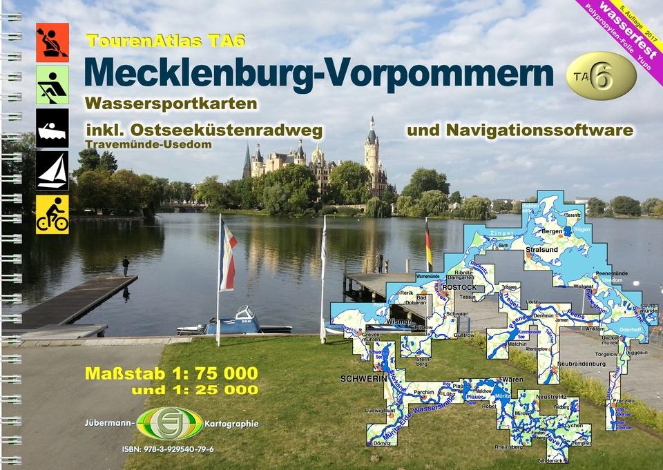 Wasserwandern Mecklenburgische Seenplatte Karte.Tourenatlas Ta6