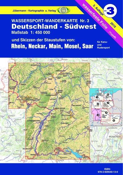 Wassersport Wanderkarte Ww3 Jübermann Kartographie Und Verlag
